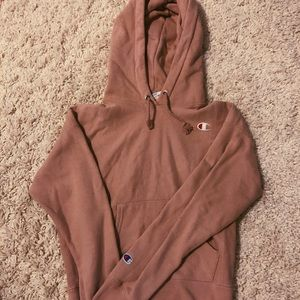 dusty rose pink champion sweatshirt hoodie